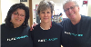Three people wearing the life changer t-shirt