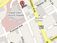 Map detail for Saint Vincent Hospital